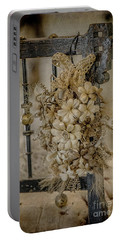 Vintage Floral Swag On A Bedpost Portable Battery Charger