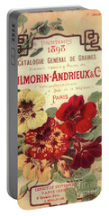 Vintage Flower Seed Cover Paris Rare Portable Battery Charger