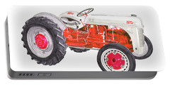 Portable Battery Charger featuring the painting Vintage Ford Tractor 1941 by Jack Pumphrey