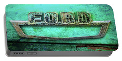 Portable Battery Charger featuring the photograph Vintage Ford Truck Logo  by Terry DeLuco