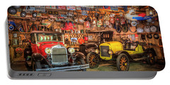 Portable Battery Charger featuring the photograph Vintage Fords Collectibles by Debra and Dave Vanderlaan