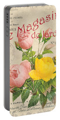 Vintage French Flower Shop 3 Portable Battery Charger