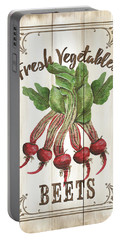 Portable Battery Charger featuring the painting Vintage Fresh Vegetables 1 by Debbie DeWitt
