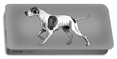 Portable Battery Charger featuring the painting Vintage German Shorthaired Pointer by Marian Cates