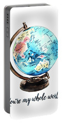 Vintage Globe Love You're My Whole World Portable Battery Charger