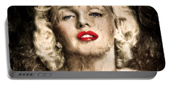 Vintage Grunge Goddess Marilyn Monroe  Portable Battery Charger