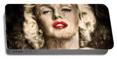 Vintage Grunge Goddess Marilyn Monroe  Portable Battery Charger