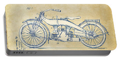 Vintage Harley-davidson Motorcycle 1924 Patent Artwork Portable Battery Charger