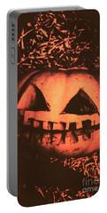 Vintage Horror Pumpkin Head Portable Battery Charger