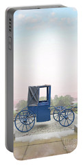 Vintage Horse Drawn Carriage Outside A Country Mansion  Portable Battery Charger by Lee Avison