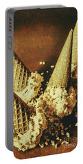 Vintage Ice Cream Cones Still Life Portable Battery Charger