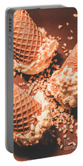 Vintage Ice Cream Shop Art Portable Battery Charger