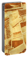 Vintage Image Of Various Photographs On Table  Portable Battery Charger