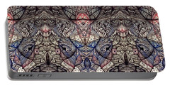 Portable Battery Charger featuring the drawing Vintage Inner Landscape by Jack Dillhunt
