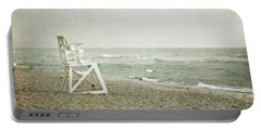 Vintage Inspired Beach With Lifeguard Chair Portable Battery Charger