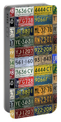 Vintage License Plates From Michigan's Rich Automotive Past Portable Battery Charger by Design Turnpike