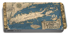 Vintage Map Of Long Island Portable Battery Charger
