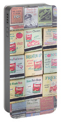 Portable Battery Charger featuring the photograph Vintage Matchbooks by Edward Fielding
