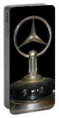 Portable Battery Charger featuring the photograph Vintage Mercedes Radiator Cap by David and Carol Kelly