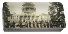 Vintage Motorcycle Police - Washington Dc  Portable Battery Charger