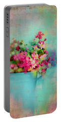 Flowers From A Cottage Garden Portable Battery Charger