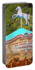 Portable Battery Charger featuring the photograph Vintage Paris Carousel by Melanie Alexandra Price