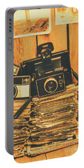 Vintage Photography Stack Portable Battery Charger