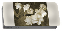 Vintage Plumeria Portable Battery Charger by Ben and Raisa Gertsberg