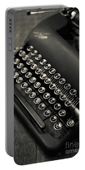 Portable Battery Charger featuring the photograph Vintage Portable Typewriter by Edward Fielding