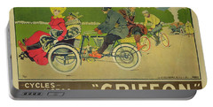 Vintage Poster Bicycle Advertisement Portable Battery Charger by Walter Thor