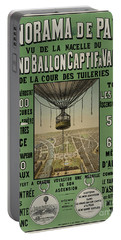 Portable Battery Charger featuring the photograph Vintage Poster Of Great Balloon View Of Paris 1878 by John Stephens