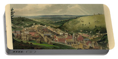 Portable Battery Charger featuring the photograph Vintage Pottsville Pennsylvania Etching With Remarque by John Stephens