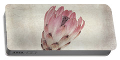 Vintage Protea Flower Portable Battery Charger