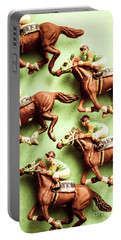 Vintage Racehorse Art Portable Battery Charger