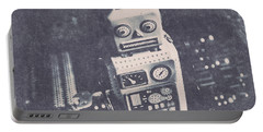 Vintage Robot Toy Portable Battery Charger