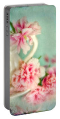 Vintage Romantic Peonies Portable Battery Charger
