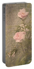 Vintage Rose Poster Portable Battery Charger