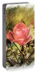 Vintage Rose Portable Battery Charger by Tina  LeCour