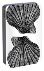 Portable Battery Charger featuring the photograph Vintage Scallop Shells by Edward Fielding