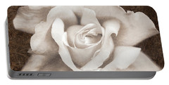 Portable Battery Charger featuring the photograph Vintage Sepia Rose Flower by Jennie Marie Schell