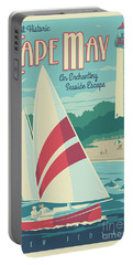 Cape May Poster - Vintage Travel Lighthouse  Portable Battery Charger