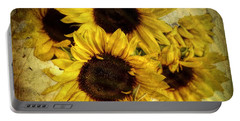 Vintage Sunflowers Portable Battery Charger