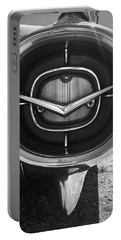 Vintage Tail Fin In Black And White Portable Battery Charger