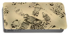 Vintage Toned Owls Portable Battery Charger