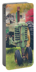 Portable Battery Charger featuring the photograph Vintage Tractor Autumn by Edward Fielding