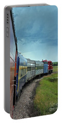 Vintage Train Portable Battery Charger