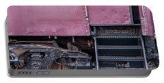 Portable Battery Charger featuring the photograph Vintage Train Car Steps by Terry DeLuco