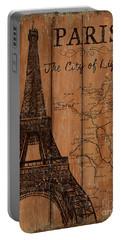 Vintage Travel Paris Portable Battery Charger