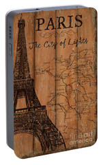 Vintage Travel Paris Portable Battery Charger by Debbie DeWitt