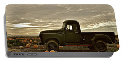 Vintage Truck Two In Pumpkin Graveyard Portable Battery Charger